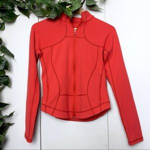LULULEMON Red Athletic Zip Up Light Jacket